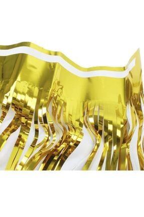 Kelebek Oyuncak Metalik Folyo Gold (altın Sarısı) Püskül Masa Eteği 75x400 Cm 3