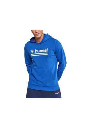 HUMMEL Erkek Mavi Kanguru Cep Sweatshirt 0