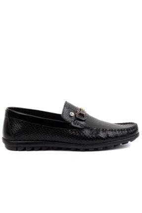 Picture of - Siyah Rugan Erkek Loafer Ayakkabı