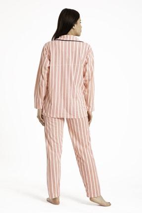 TAMPAP Gömlek Yaka Düğmeli Kadın Pijama Takımı 3010 1