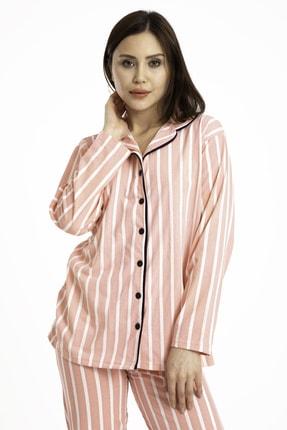 TAMPAP Gömlek Yaka Düğmeli Kadın Pijama Takımı 3010 2