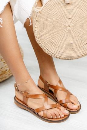 Muggo Infw312 Hakiki Deri Kadın Sandalet 0