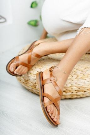Muggo Infw312 Hakiki Deri Kadın Sandalet 1